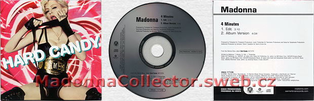 MADONNA & JUSTIN TIMBERLAKE & TIMBALAND 4 Minutes - 2008 Argentine Promo CD + cardsleeve (PRCD-17108)