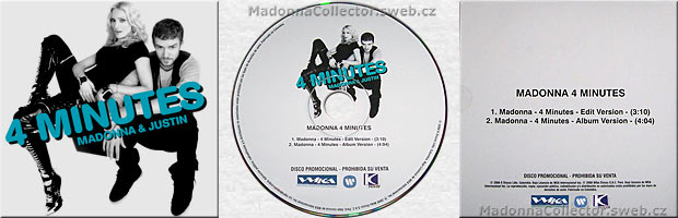 MADONNA 4 Minutes - Colombian Promo Picture CD Single