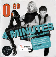 MADONNA - 4 MINUTES - German Download Edition Cardsleeve