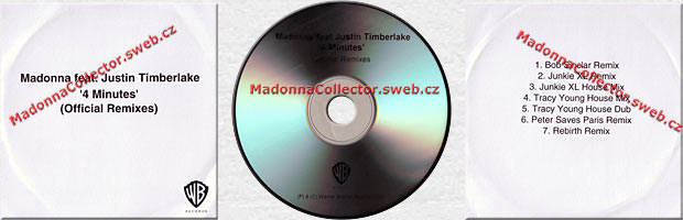 MADONNA 4 Minutes - UK Promo CD-Reference