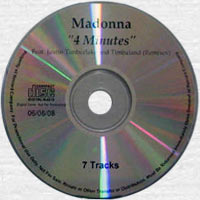 MADONNA 4 Minutes - 2008 US 7-Mix Promo CD-Reference