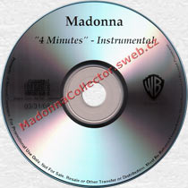 MADONNA 4 Minutes Instrumental - 2008 US Promo CD-Reference