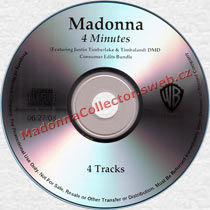 MADONNA 4 Minutes - 2008 US Promo CD-Reference