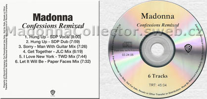 MADONNA Confessions Remixed CD-Reference