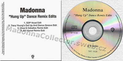 MADONNA Hung Up Dance Remix Edits CD-Reference