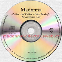 MADONNA Mother And Father US promo CD-Reference