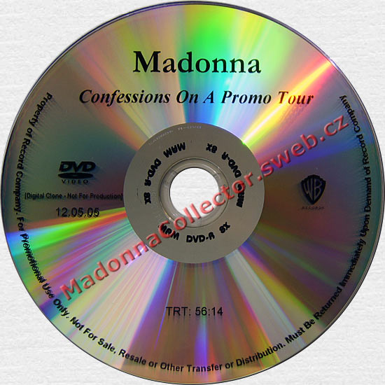 MADONNA Confessions On A Promo Tour - US In-House Promo DVD-Reference
