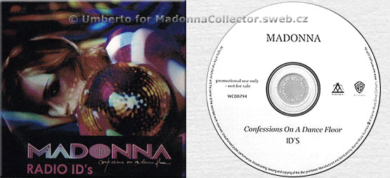 MADONNA Confessions On A Dance Floor Radio ID's Promo CD