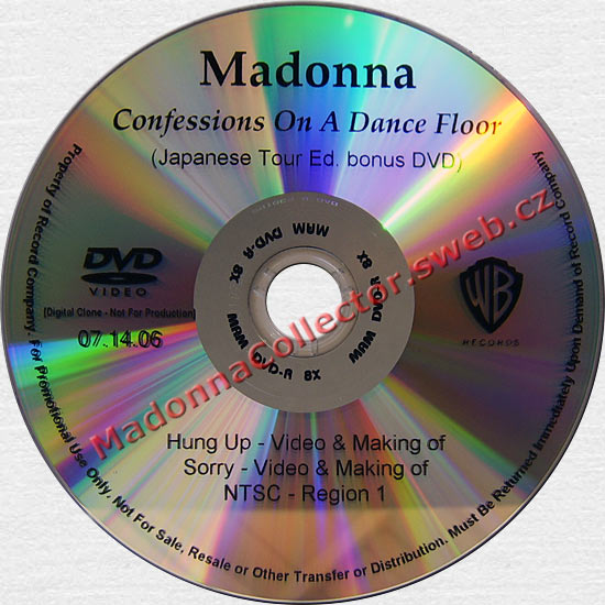 MADONNA Confessions - Japanese Tour Ed. Bonus In-House DVD-Reference