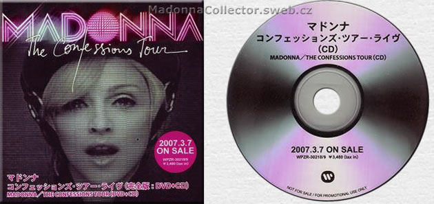 MADONNA Confessions Tour - Japanese Promo CD-Reference