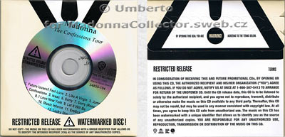 MADONNA The Confessions Tour - Mexican Watermarked Promo CD (34855-104)