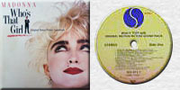 MADONNA WHO'S THAT GIRL LP Yugoslavia
