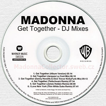 MADONNA Get Together Promo CD-Reference