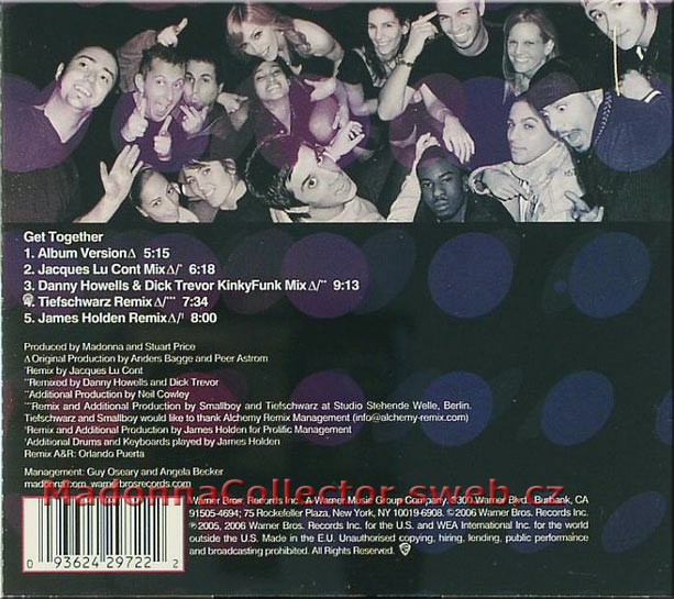 MADONNA Get Together CD Single