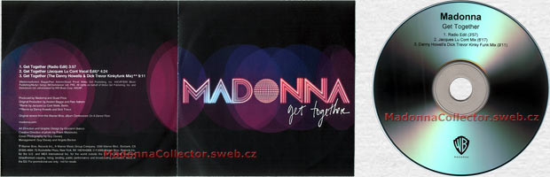 MADONNA Get Together - UK 3-trk Promo CD-R