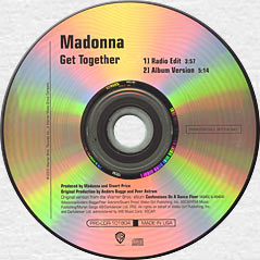 MADONNA Get Together Promo CD Single