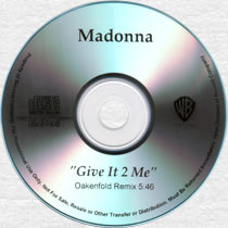 MADONNA Give It 2 Me - US 1-trk Promo CD-R