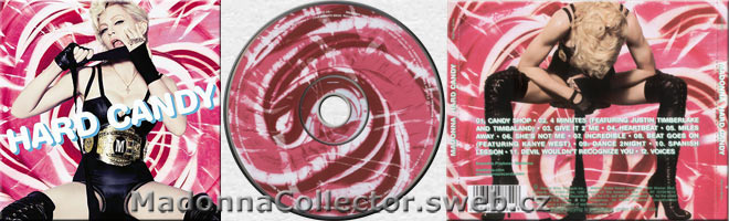 MADONNA Hard Candy - 2008 Warner Philippines Pink CD album (421372-2 / 9362-49884-9)