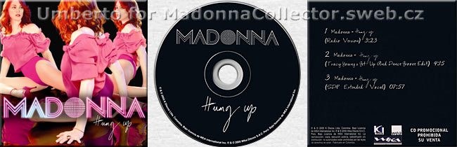 MADONNA Hung Up Promo CD Colombia