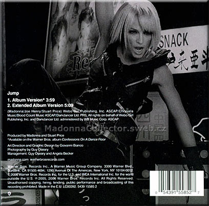 MADONNA Jump CD in card sleeve