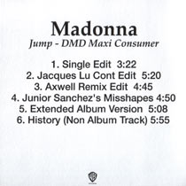 MADONNA Jump - US CD-Reference