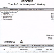MADONNA Love Don't Live Here Anymore