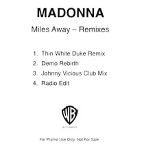 MADONNA Miles Away - UK 4-trk Promo CD-R