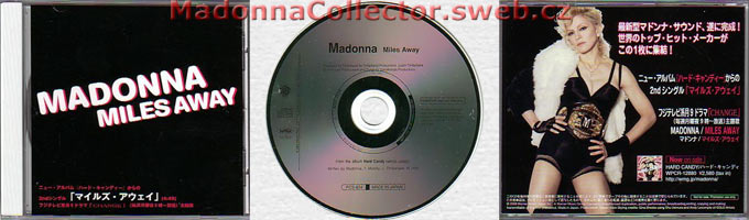 MADONNA Miles Away - 2008 Japanese Promo CD single (PCS-824)