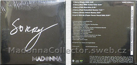 MADONNA Sorry Promo CD Argentina