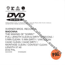 MADONNA The Making Of Sorry DVD